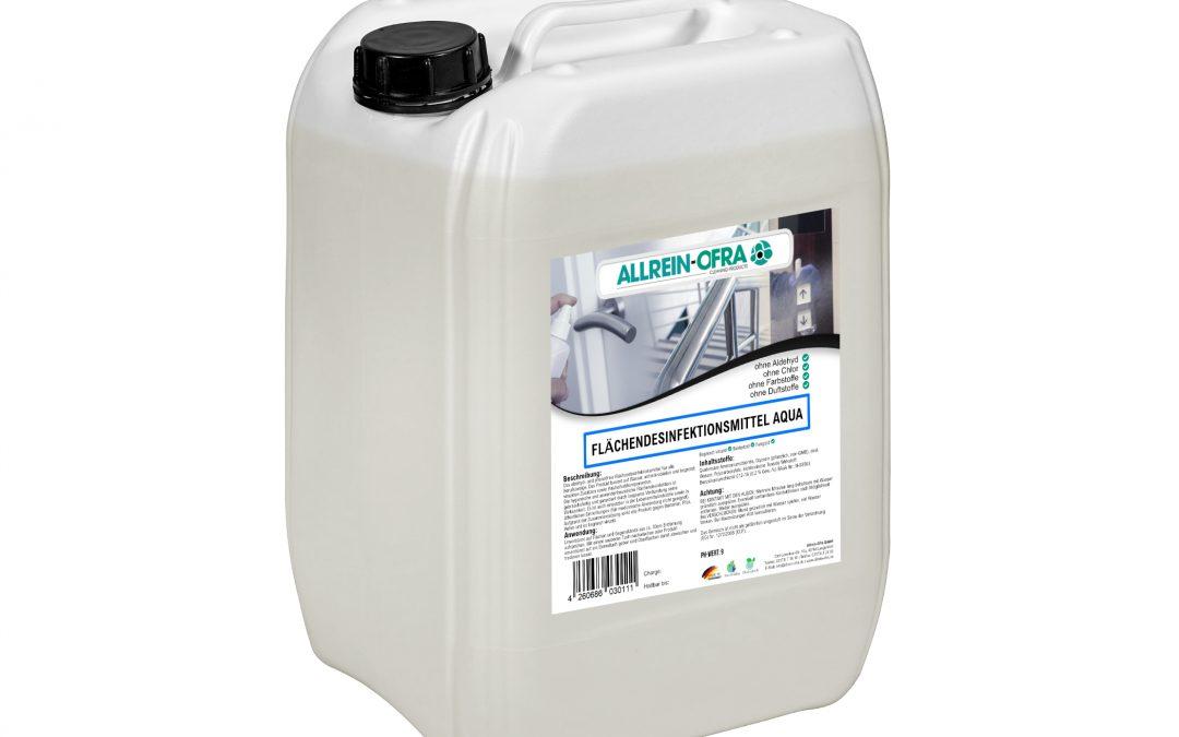 Flächendesinfektionsmittel Aqua