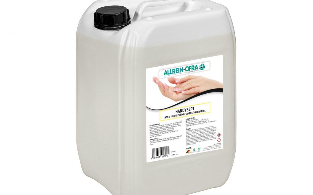 Handysept – Hand- und Sprühdesinfektionsmittel