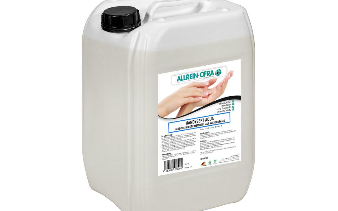Handysept Aqua – Handdesinfektionsmittel auf Wasserbasis